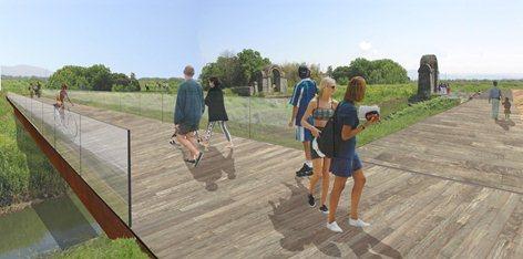"""Concorso di progettazione per un nuovo ponte ciclo-pedonale nella sede del """"Ponte Leopoldo II"""""""