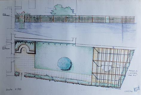 Progetto di giardino con pergola