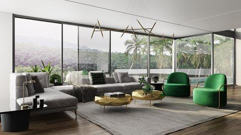 Modern Luxury. Living Room Design 3dvisualization   Archicgi com