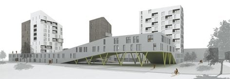 Complesso residenziale cooperativo a Milano est