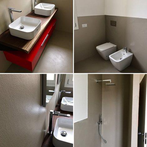 Due bagni in completo stile Kerakoll Design House