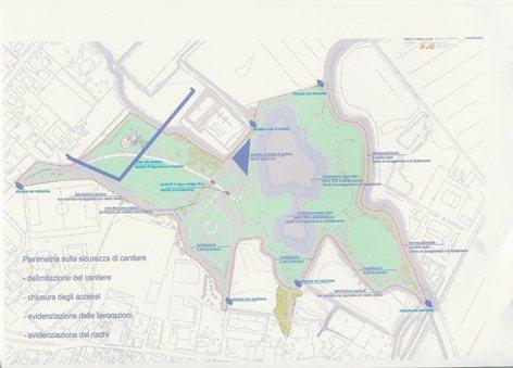 Piano di coordinamento e sicurezza PSC per il parco delle dote di Azzano Decimo progettista incaricato arch. Giorgio Pegolo