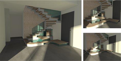 Interior Design - Realizzazione di una scala e di arredi su misura