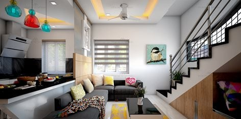 Small Flat Apartment Interior Design Bangalore India Monnaie Architects Interiors Monnaie Architects Interiors