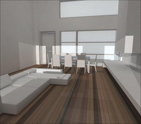 Progettazione interna e dell'arredo di un loft