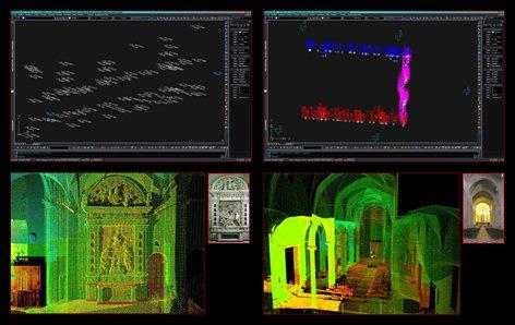 Rilievo Laser Scanner della Pala d'Altare Robbiana della Chiesa dell'Assunta di Montecassiano (MC)