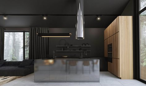 Black White House Home Design,Pop Simple Design For Hall Without Ceiling