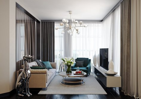 Small Living Room 3d Rendering Archicgi Com
