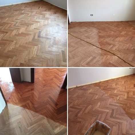 Rinnovo pavimento in legno Doussiè