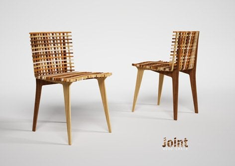 Joint wooden chair