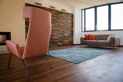 Nuovo layout zona living in abitazione privata