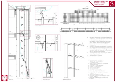 PROJECT OF A NEW TECHNOLOGICAL SYSTEM IN STEEL AND GLASS TO REPLACE THE OLD FACADE OF THE ARCHITECTURAL FACULTY OF REGGIO CALABRIA