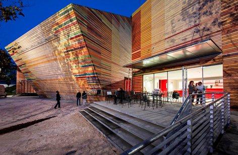 Temporary auditorium in L'Aquila