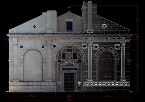 Rilievo strumentale del Tempio Malatestiano di L. B. Alberti