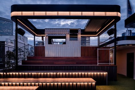 Rooftop Bar Cinema Techne Architecture Interior Design