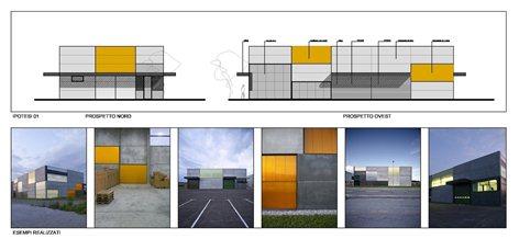Progetto di massima di un edificio artigianale commerciale