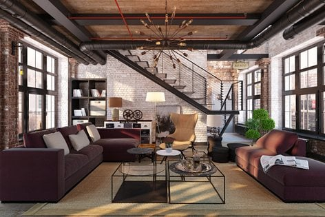 Industrial Living Room Design Ideas, Industrial Living Room