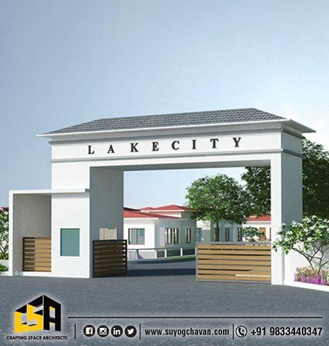Entrance Gate Of Apratim Group In Pali Raigad Architect Suyog Chavan