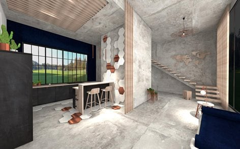 Interior Design House Modern Loft Industrial Samanta Kosiarska