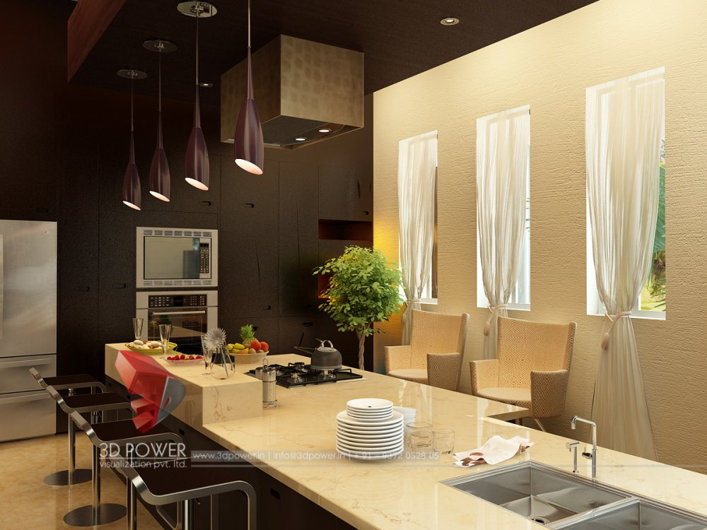 Contemporary and Modern Living room Kitchen and bedroom