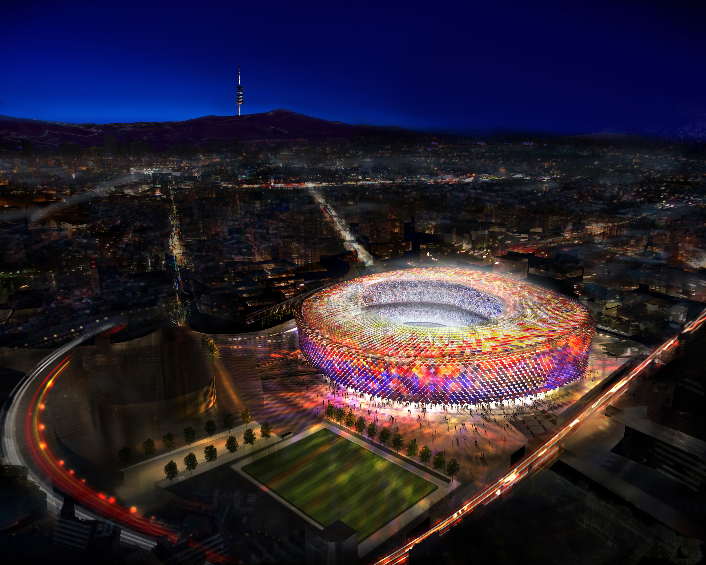 new camp nou stadium for fc barcelona foster partners norman foster new camp nou stadium for fc barcelona