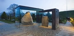 Covering of the runic stones in Jelling