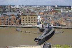 Scale Lane Bridge on River Hull in full swing