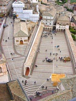 Restauro e consolidamento della piazza Inferiore della Basilica di San Francesco in Assisi