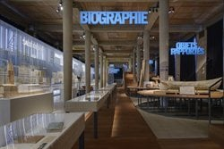 The scenography of the exhibition 'Auguste Perret: Eight Masterpieces!/?'