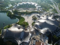Roofing for main sports facilities in the Munich Olympic Park