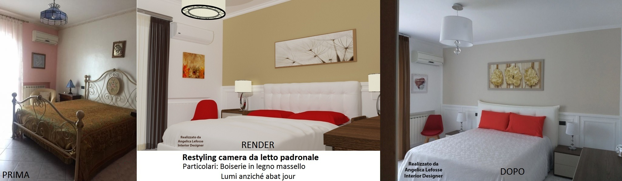 Restyling Camera da letto padronale 2 | Angelica Lefosse