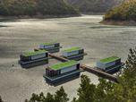 Alloggi minimi per un lago in Albania progetto tra i vincitori del 12° ciclo world architecture comunity award