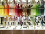 UNIQLO window installations | colorful wind