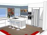 Ambiente cucina per casa Privata
