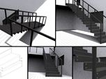 Steel stairs conception