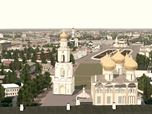 3D Model of the city of 19th, 17th and 13th centuries