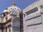 Restauro facciate laterali Basilica di San Pietro