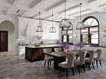 Stylish Kitchen Design Architectural Rendering