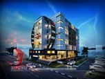 Spectacular 3D Hotel Exterior rendering and elevation design by 3D Power