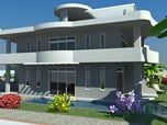 Luxurious 3D Rendering Model of Row-House
