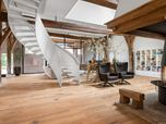 old farmhouse reshaped with reclaimed engineered Oak flooring