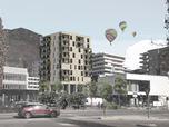 Concorso Bolzano - Prati di Gries - Edificio multipiano in legno