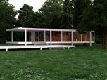 Restituzione tridimensionale di Casa Farnsworth.