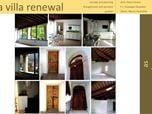 restauro di villa