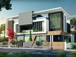 3D Ultra modern Bungalow exterior day rendering and elevation design by 3D Power