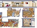 Progetto d'integrazione di 2 immobili adiacenti - Napoli 2010