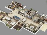 3D Villa Floor Plan Services.