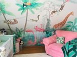 Wall mural in nursery