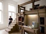 Nothing, cardboard office interior
