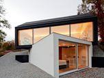 Black on white studio house